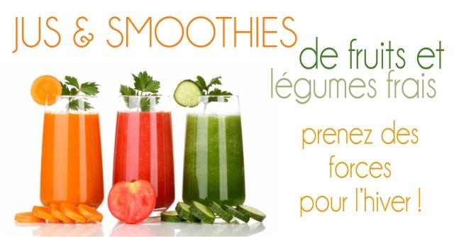 jus de fruits et légumes pour être en forme cet hiver